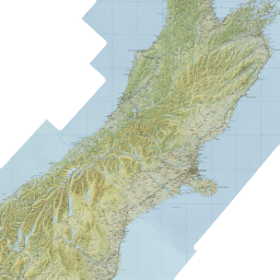 Topographic Map Of New Zealand.Hunting Map